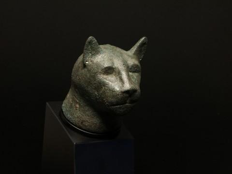 Egyptian Bronze Cat Head