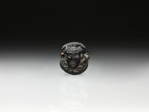 Roman Glass Pendant of Medusa