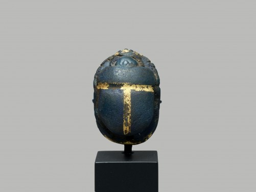 Egyptian Blue and Gold Scarab