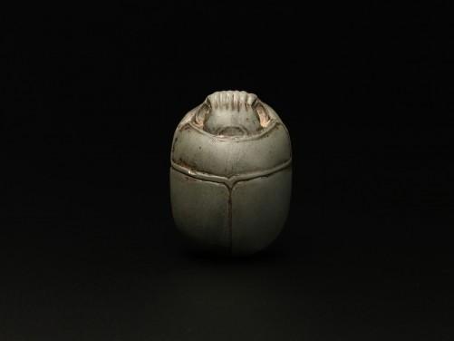 Egyptian Greywacke Heart Scarab
