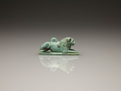 Egyptian Recumbent Lion Amulet | Medusa Ancient Art