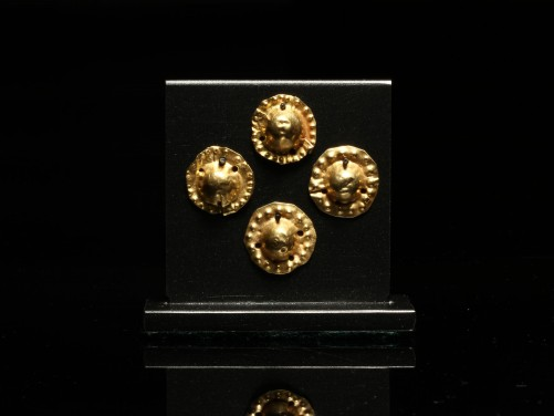 Set of Four Greek Gold Appliqués