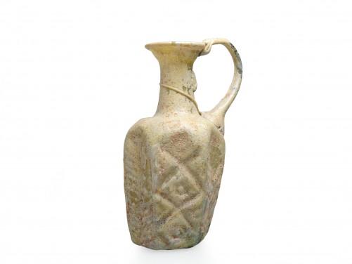 Hexagonal Glass Flask