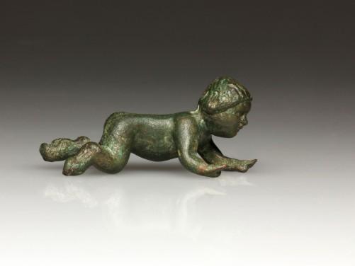Roman Bronze Crawling Baby