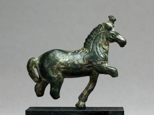 Roman Bronze Prancing Horse