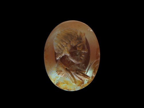 Roman Crystal Intaglio of a Boy