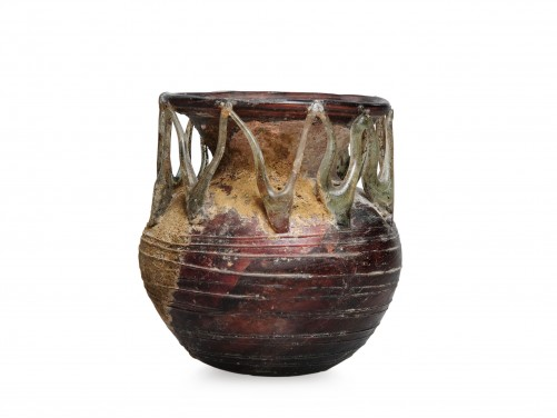 Roman Glass Trailed Jar