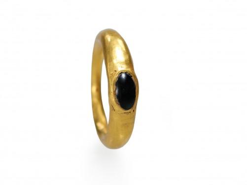 Roman Child Gold and Jasper Ring