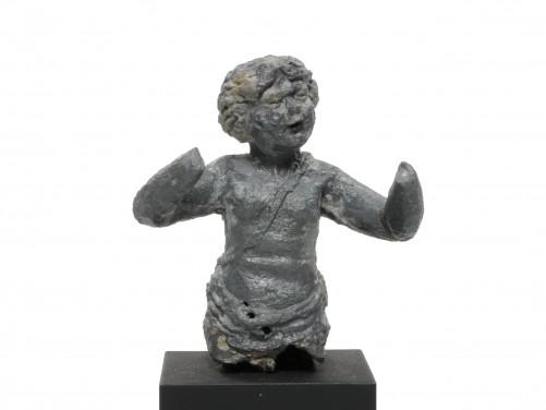 Roman Lead Figure of an Eros