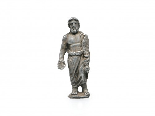 Roman Silver Figure of Serapis