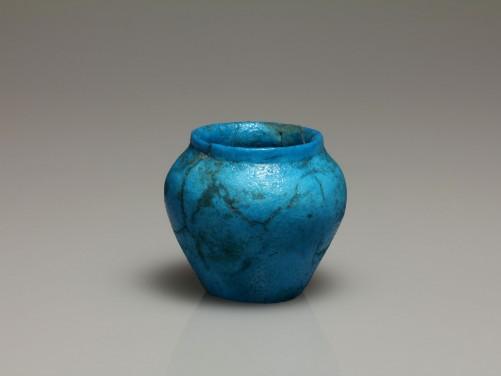 Egyptian Bright Blue Faience Jar
