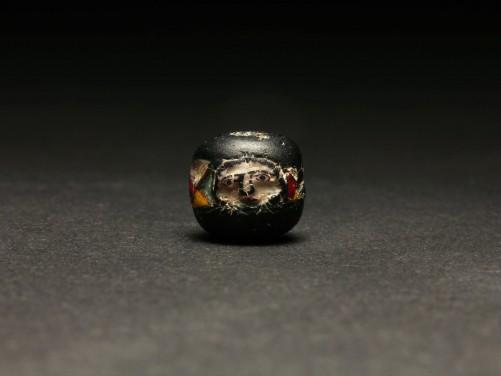 East Mediterranean Mosaic Face Bead