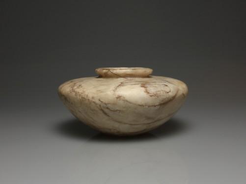 Egyptian Alabaster Squat Jar