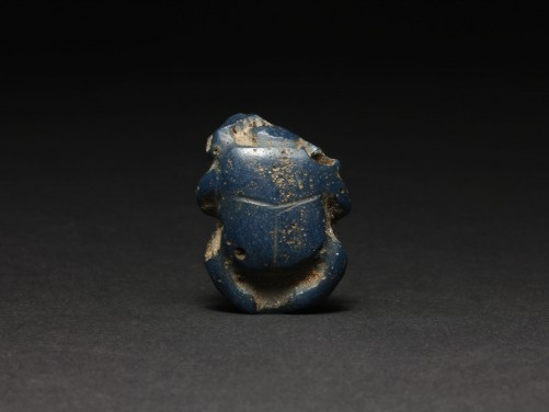 Egyptian Blue Glass Scarab
