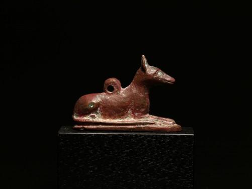 Egyptian Bronze Jackal Amulet