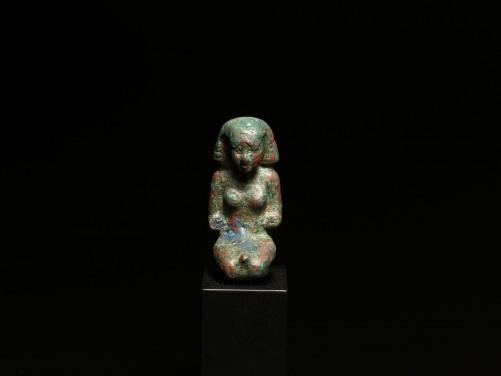 Egyptian Bronze Kneeling Woman