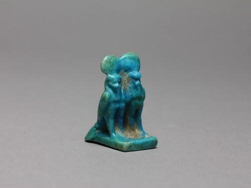 Egyptian Faience Ba-Birds Amulet
