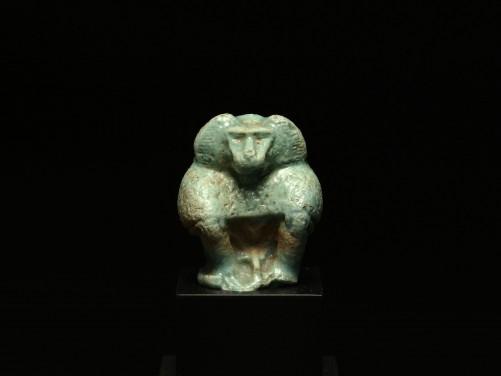 Egyptian Faience Baboon Amulet