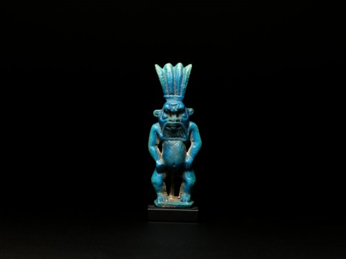 Egyptian Faience Bes Amulet