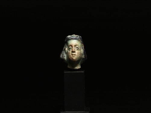 Egyptian Faience Head of a Goddess