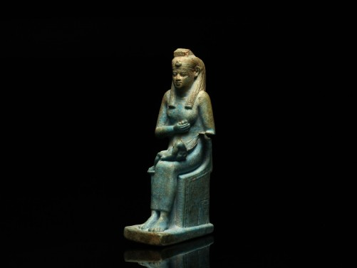 Egyptian Statuette of Isis and Horus