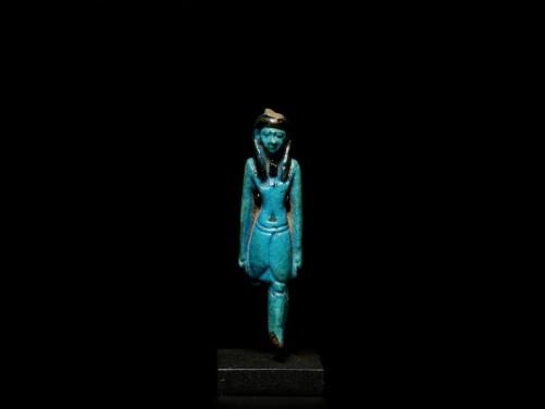 Egyptian Faience Nefertum Amulet
