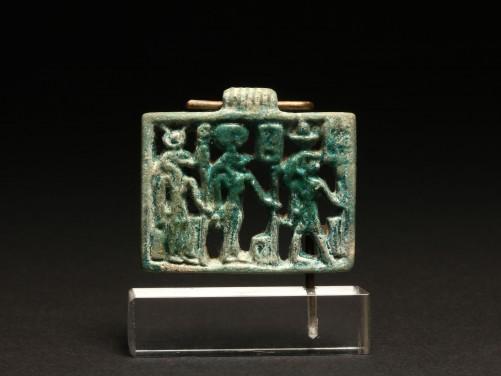 Egyptian Openwork Triad Amulet