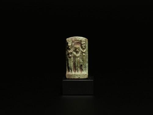 Egyptian Faience Triad Amulet