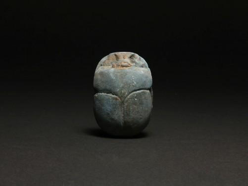 Egyptian Frit Heart Scarab
