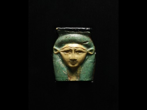 Egyptian Glass Hathor Fragment