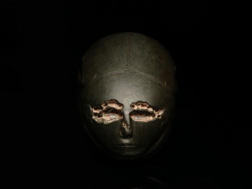 Egyptian Graywacke Human-Headed Scarab