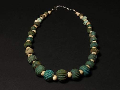 Egyptian Melon Bead Necklace