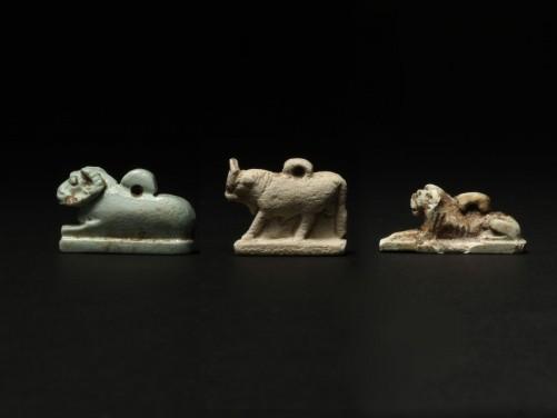 Three Egyptian Animal Amulets