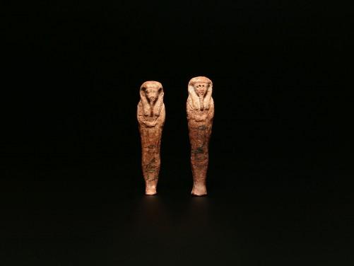 Pair of Wax Shabtis for Iret-Hor-Erou