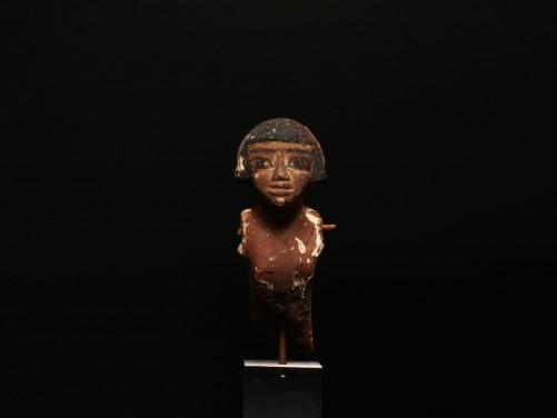 Egyptian Wood Model Figure