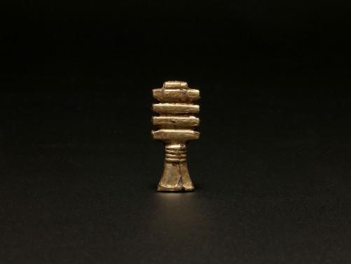 Gilded Djed Pillar Amulet