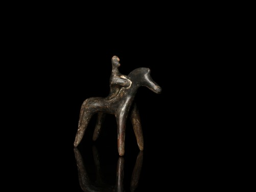 Boeotian Figure of a Horse and Rider