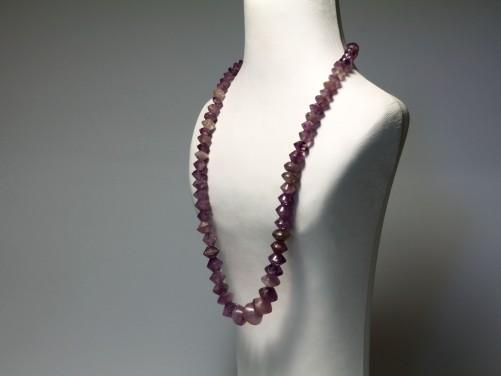 Greek Amethyst Bead Necklace