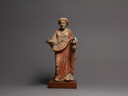 Greek Terracotta Figure of a Woman