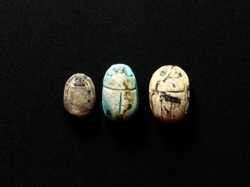 Group of three Egyptian Scarabs