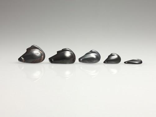 Five Hematite Duck Weights