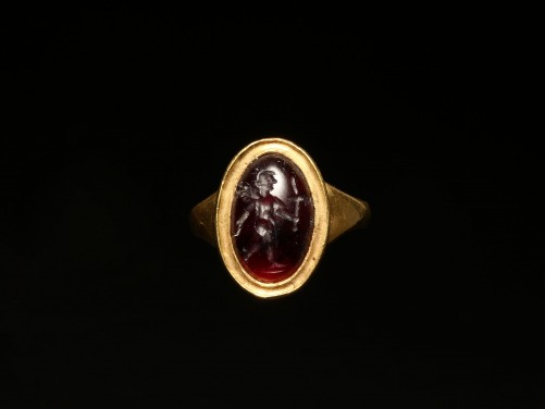 Ring with Roman Garnet Intaglio of Victory