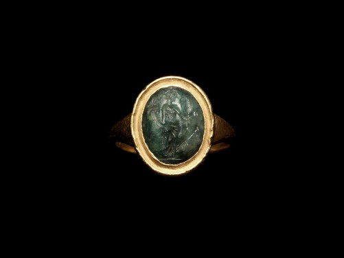 Ring with Roman Intaglio of Fortuna