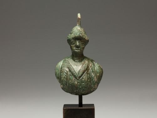 Roman Bronze Bust of a Warrior