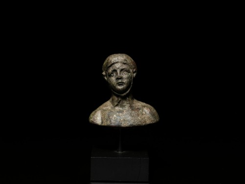 Roman Bronze Bust of an Athlete
