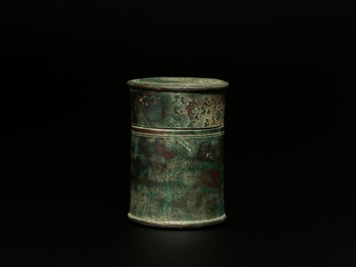 Roman Bronze Lidded Box