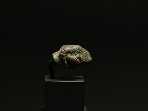 Roman Bronze Ram Head