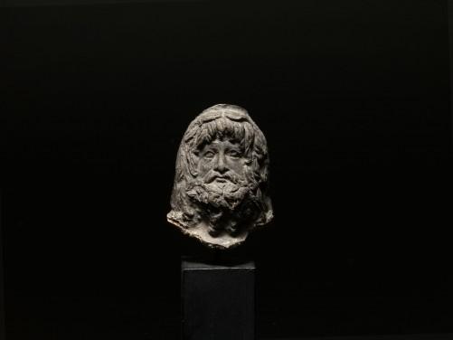 Roman Terracotta Serapis Head