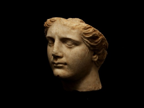 Roman Marble Head of Athena