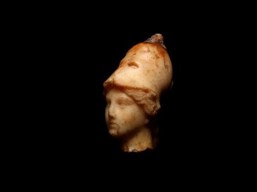 Roman Marble Head of Athena Vescovali